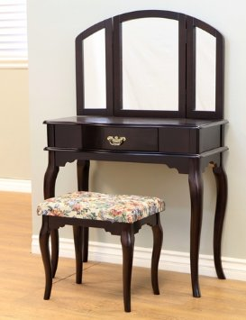Queen Anne Style 3 Piece Vanity Set W Stool Best Home